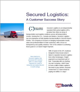 Secured Logistics US Bank Success Story